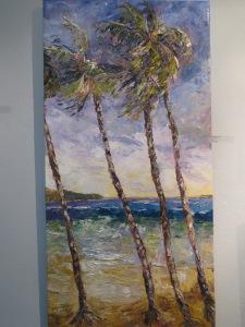 "Guarding Paradise, Susan Mains, Oil on Canvas 8"" x 24"""