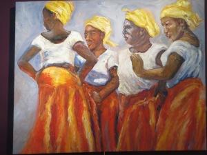 "Susan Mains""The Critics"" 30"" x 40"" Oil on Canvas"