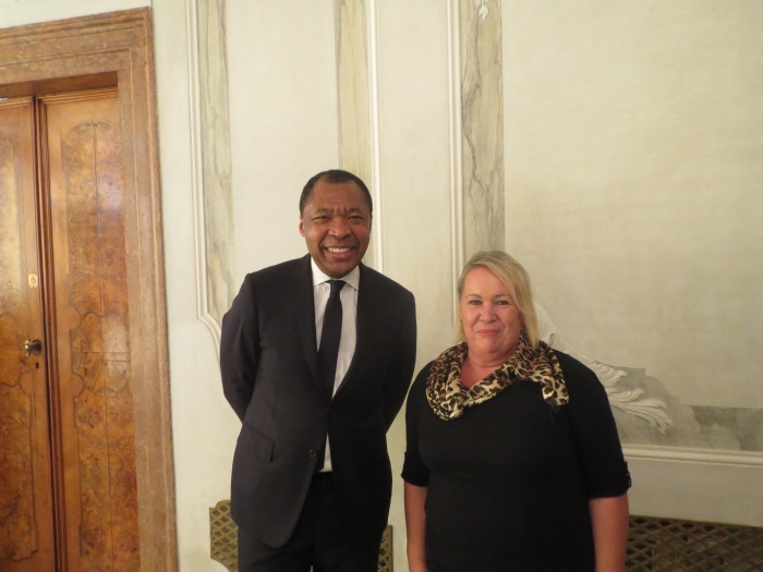 Susan Mains with Okewui Enwezor