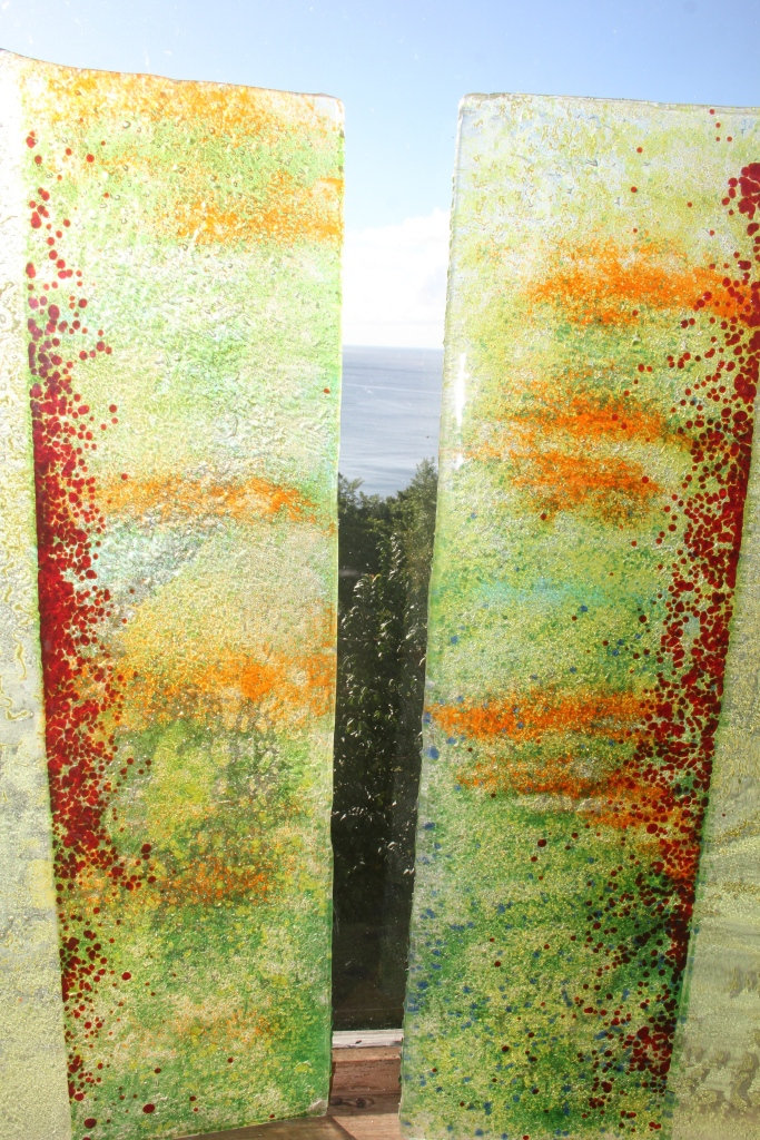 Maria McClafferty Disordered World Glass Detail Panels 1 and 3